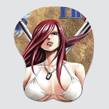 Fairy Tail Erza Scarlet 3D anime silicone mouse pa...