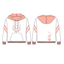 Overwatch D.VA long sleeve cotton hoodie
