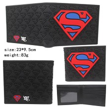 Super Man silicon wallet