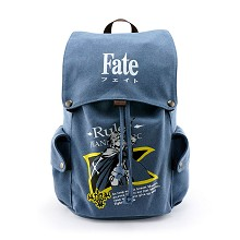 Fate anime canvas backpack bag