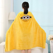 Despicable Me coral fleece velvet blanket summer q...