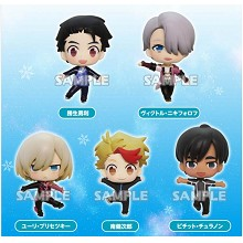 Yuri on Ice anime figures set(6pcs a set)