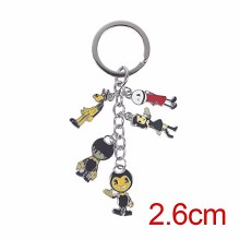 Bendy and the ink machine key chain