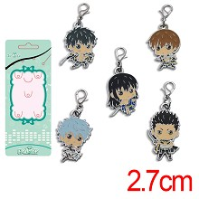 Gintama anime key chains set(5pcs a set)