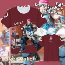 Overwatch Zarya t shirt
