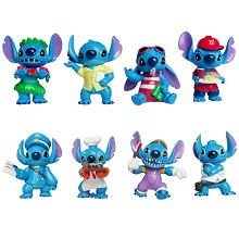 Stitch anime figures set(8pcs a set)