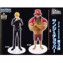 One Piece Sanji and Chopper anime figures set(2pcs a set)