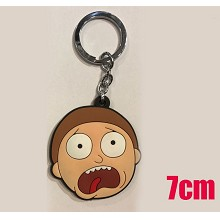Rick and Morty soft PVC key chain