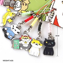 Neko Atsume anime phone straps(5pcs a set)