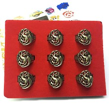 Game of Thrones rings set(9pcs a set)