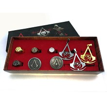 Assassin's Creed ring and key chains a set