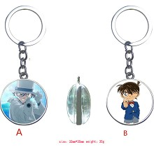 Detective conan anime two-sided key chain