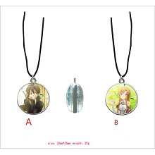 Sword Art Online anime two-sided necklace