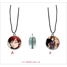Naruto Gaara anime two-sided necklace