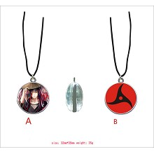 Naruto anime Itachi anime two-sided necklace