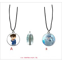 Detective conan anime two-sided necklace