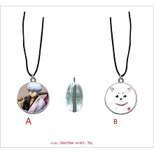 Gintama anime two-sided necklace