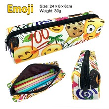 EMOJI canvas pen bag pencil case