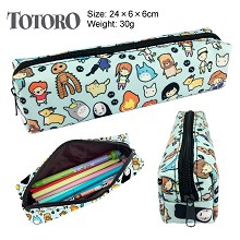 Totoro canvas pen bag pencil case