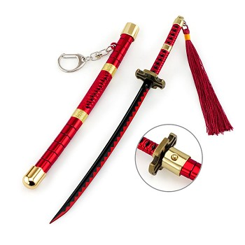 One Piece Zoro anime knife key chain