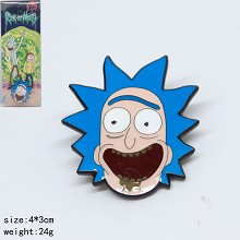 Rick and Morty brooch pin