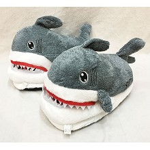 12inches shark plush shoes slippers a pair