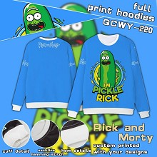 Rick and Morty full print hoodies