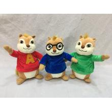 8inches Alvin and the Chipmunks plush dolls set(3p...