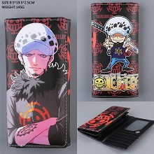 One Piece Law anime long wallet