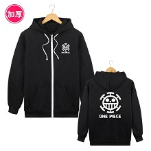 One Piece Law anime thick hoodie cloth