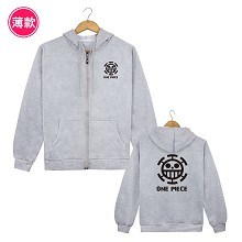 One Piece Law anime thin hoodie cloth