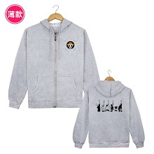 One Piece anime thin hoodie cloth
