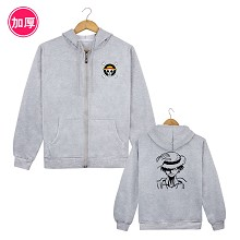One Piece Luffy anime thick hoodie cloth