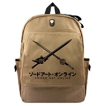 Sword Art Online anime canvas backpack bag