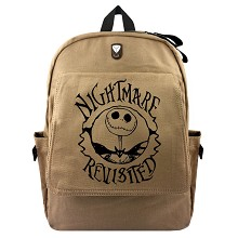 The Nightmare Before Christmas canvas backpack bag