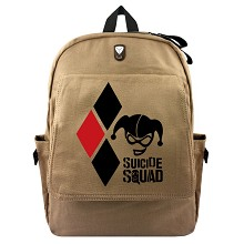 Suicide Squad canvas backpack bag