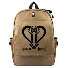 Kingdom Hearts anime canvas backpack bag