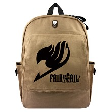 Fairy Tail anime canvas backpack bag