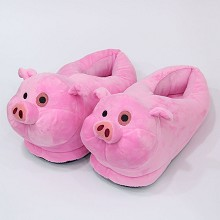 Gravity Falls pig plush shoes slippers a pair