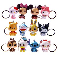 Disney figure key chains set(12pcs a set)