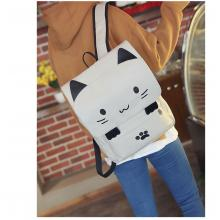 Neko Atsume anime backpack bag gray