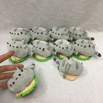 3inches Pusheen Cat anime plush dolls set(10pcs a set)
