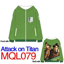 Attack on Titan anime hoodie cloth dress