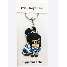 Overwatch two-sided key chain
