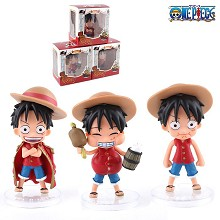 One Piece Luffy anime figures set(3pcs a set)