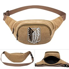 Attack on Titan anime canvas pocket waist pack bag