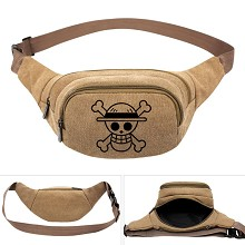 One Piece anime canvas pocket waist pack bag