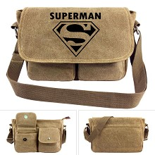 Super Man canvas satchel shoulder bag