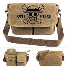 One Piece anime canvas satchel shoulder bag