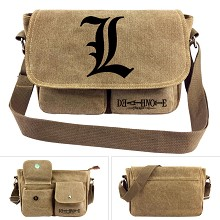 Death Note anime canvas satchel shoulder bag